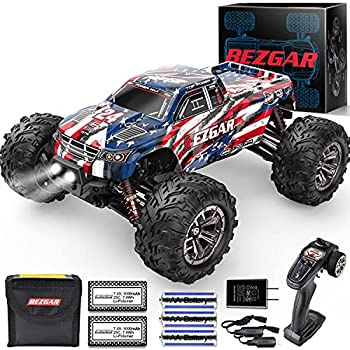 BEZGAR 1 16 Large Size Off Road Remote Control Fast Racing Hobby Car Hobbyist Grade 4×4 Waterproof RC Car High Speed Electric Monster Toy Vehicle Truck with Rechargeable Batteries for Adults