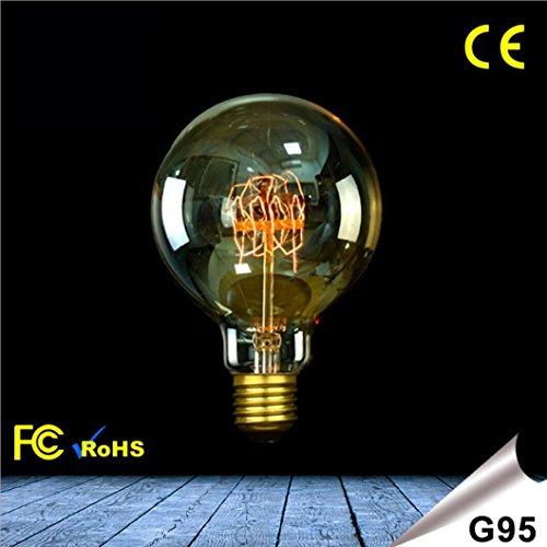 OOFAY LIGHT Vintage Edison filamento di tungsteno lampadina dimmerabile E272300K G95lampadine decorative classe energetica a + + Antico 25w