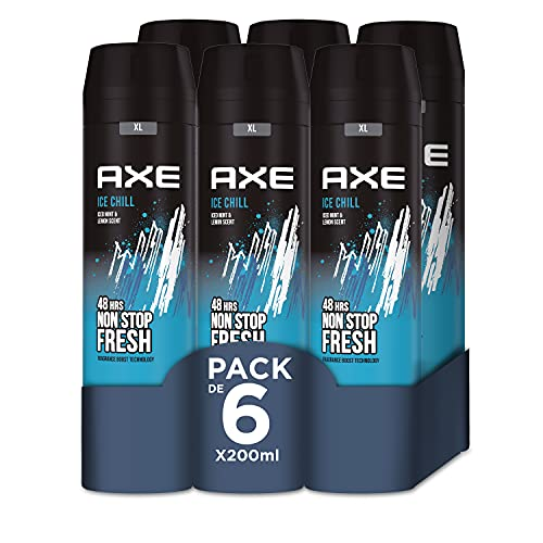 Axe Ice Chill Rock Desodorante - 200 ml - Pack de 6