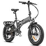 eAhora X7 Plus 750W Fat Tire Folding Electric Bike Full Suspension 30Mph Hydraulic Brakes 48V Electric Bikes for Adults 20'' Electric Bicycle Cruise Control Shimano 8 Speed