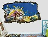 Peces el mar animales de acuario animales salvajes calcomanía de pared pegatina de pared decoración arte Mural animales H950-PegatinasDe Pared Calcomanía Decoración - 60x90cm