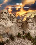 2020 Weekly and Monthly Planner: Mount Rushmore National Memorial - Monthly Calendar with U.S./UK/ Canadian/Christian/Jewish/Muslim Holidays– Calendar ... 8 x 10 in.-South Dakota Travel Vacation