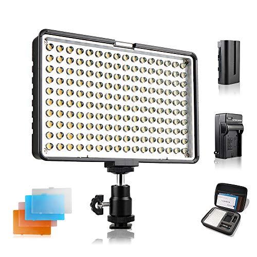 SAMTIAN 160 LED Lampe vidéo, Pan...