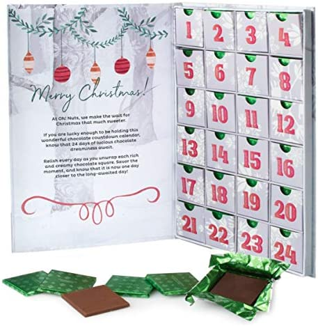 Oh Nuts Milk Chocolate Advent Calendar 2020 Fun Christmas Countdown Thanksgiving Gifts for Kids product image