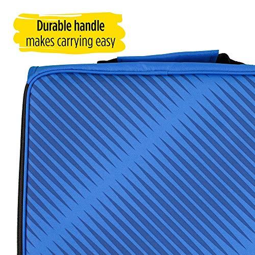 Five Star Zipper Binder, 2 Inch 3 Ring Binder, 6-Pocket Expanding File, Durable, Blue (72534) Photo #6