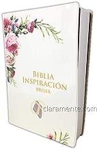 Santa Biblia Inspiración para Mujer Letra Grande de 12 puntos Reina-Valera 1960, tapa de vinil, blanco floral