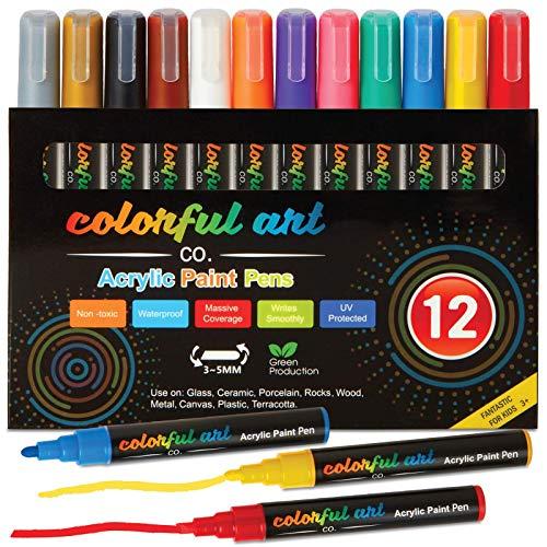 Colorful Art Co Rotuladores para pintar de pintura acrílica