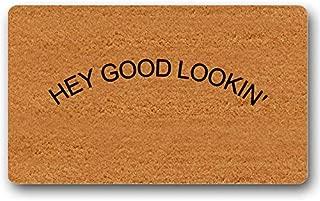 Hey Good Lookin' Doormat Welcome Mat Custom Outdoor Cute Wedding Gift Entry Sign Funny Floor Mat Door Mat Non-Slip 23.6 by 15.7 Inch Machine Washable Indoor/Outdoor