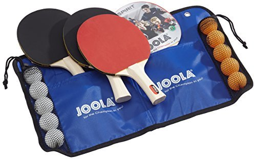 JOOLA Family Table Tennis Set with 4 Spirit Rackets and 10 Balls by JOOLA