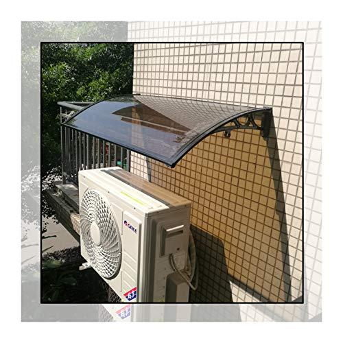 GuoWei Marquesina para Puertas Ventanas, Refugio De Lluvia Translúcido para Balcón Exterior, Cubierta De Techo Resistente A La Intemperie, Tamaño Personalizado (Color : Brown, Size : 60x80cm)