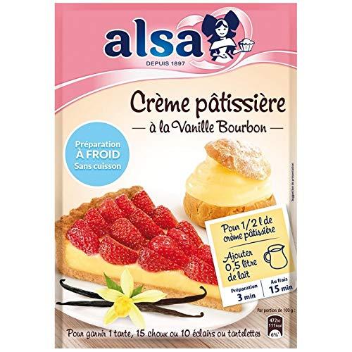 ALSA - Préparation Crème Patissière À Froid 125G - Lot De 3
