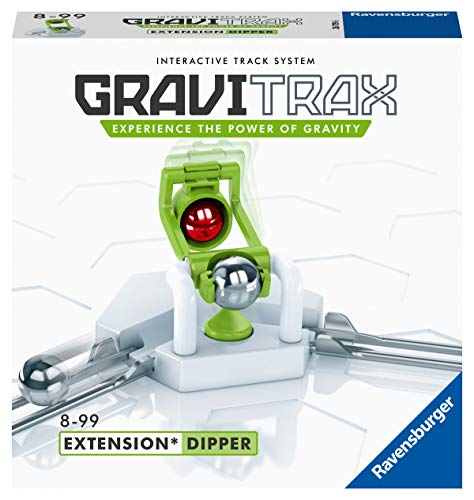 Ravensburger GraviTrax Erweiterung Dipper - Ideales Zubehör für spektakuläre Kugelbahnen, Konstruktionsspielzeug für Kinder ab 8 Jahren