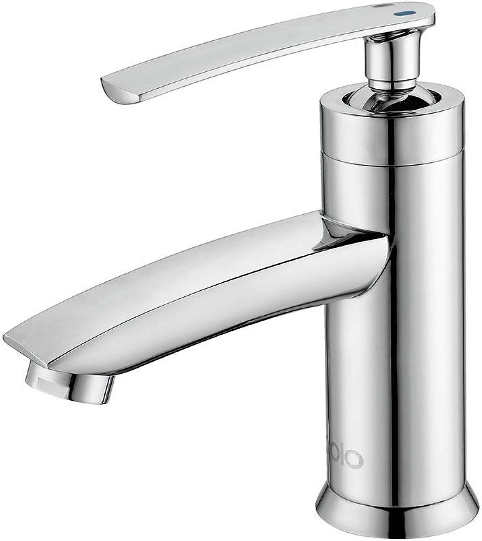 Hjbds moderne chrom waschbecken wasserhahn, messing waschbecken wasserhahn, einhand einlochmontage badezimmerschrank waschbecken wasserhahn (farbe  silber)