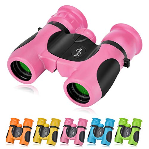 Kissarex Kids Compact Travel Binoculars: 8x21 Mini Small Size Lightweight Best Outdoor Theatre Tactical Hiking Concert Sports Camping Low-Light Night Vision Waterproof