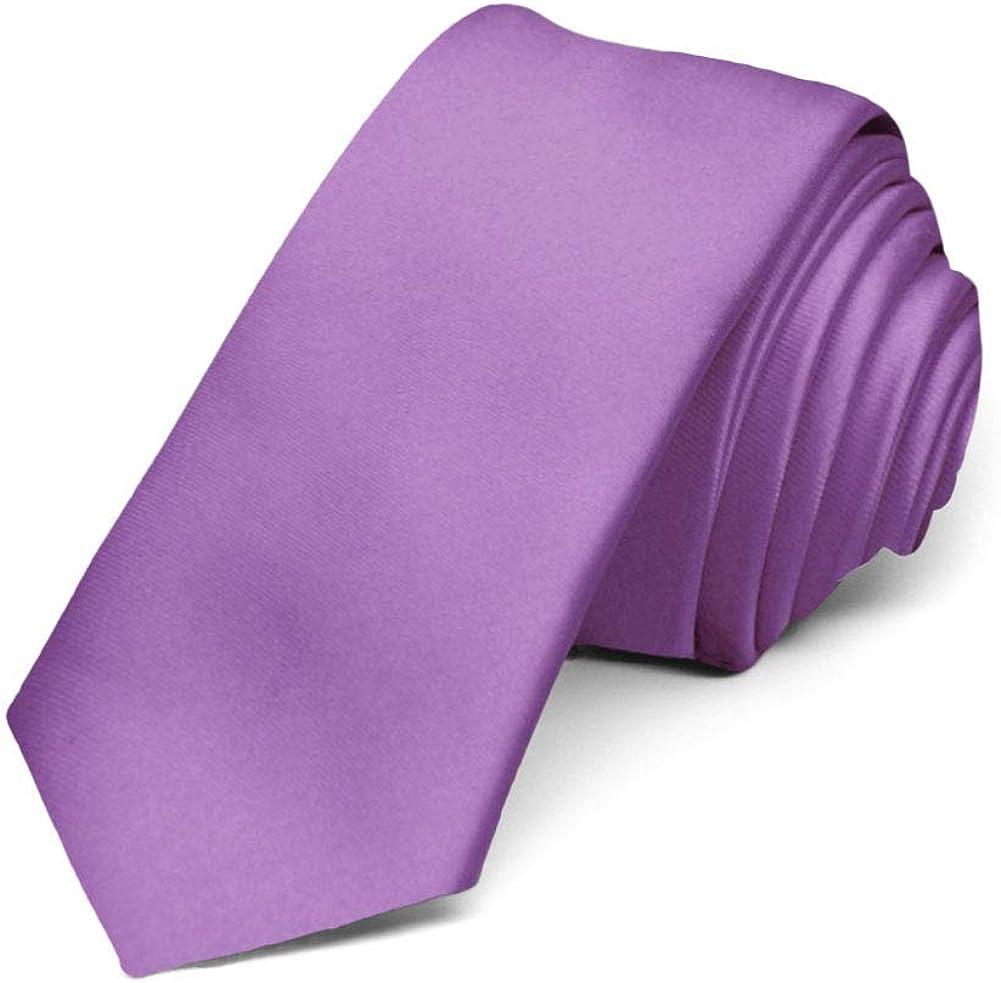 TieMart Antique Lilac Skinny Necktie, 2