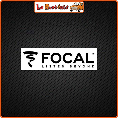 La Ruotante 2 Sticker Focal (Vinile) Auto Motorfiets Vespa Fietshelm 20x6 Cm