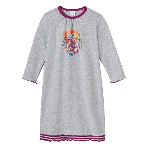 Schiesser Mädchen 1/1 Nachthemd, Grau (grau-Mel. 202), (Herstellergröße: 104)