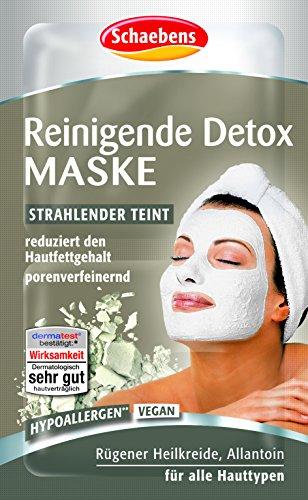 Schaebens Reinigende Detox Maske, 15er Pack (15 x 10 ml)