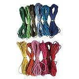 Tubayia 12 hilos de algodón encerados de 10 m y 2 mm, para collares DIY