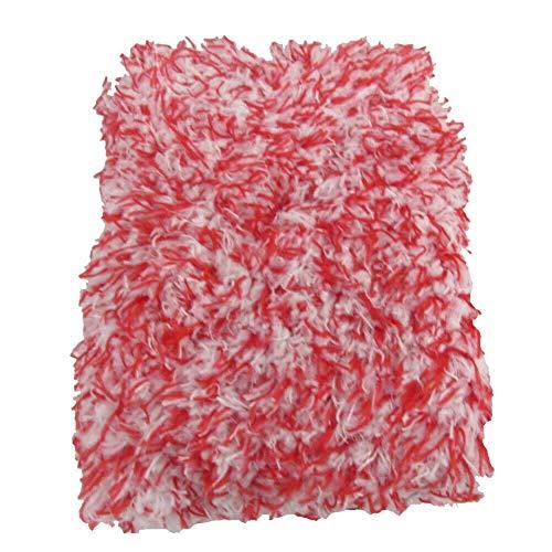 Éponge en Microfibre Super Absorbante Éponge de Lavage de Première Qualité Lavage Automatique Professionnel et éponge Propre Éponge de Lavage de Voiture Douce pour l'entretien de la Voiture (Rouge)