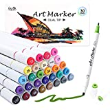Best Art Markers - Dual Tip Alcohol Based Art Markers, Lineon 30 Review