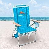 Tommy Bahama 7 Position Hi-Boy Beach Chair, Blue