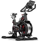 Bicicleta de ejercicio profesional para interiores - Inicio Unisex Pérdida de peso Abdominal Fitness Rueda fría Pedal antideslizante Protección de seguridad Volante multifunción Bicicleta deportiva