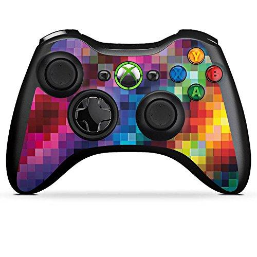DeinDesign Skin kompatibel mit Microsoft Xbox 360 Controller Folie Sticker Pixel Farbe bunt