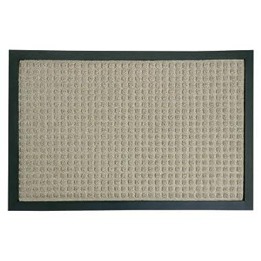 Rubber-Cal 03-200-ZWTN Nottingham Rubber Backed Carpet Entry Indoor Doormat, 2' x 3',Tan