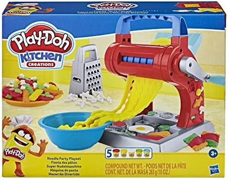 Play Doh Kitchen Creations Noodle Party Playset for Kids 3 Years and Up with 5 Non Toxic Colors product image