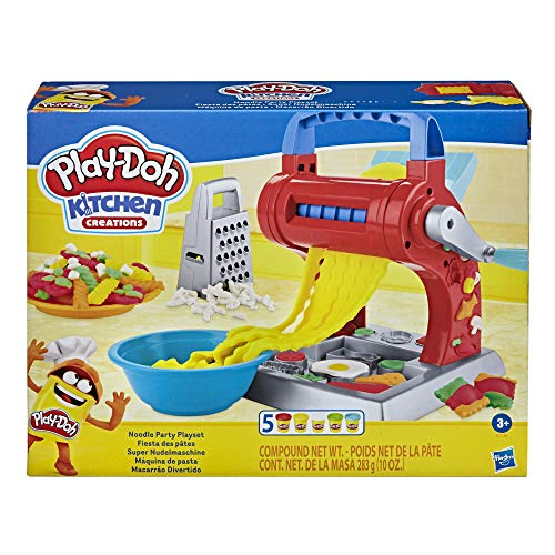 Play-Doh Kitchen Creations Super Nudelmaschine Spielset für Kinder ab 3 Jahren mit 5 Play-Doh Farben