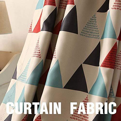 Moderne geometrische raambekleding Gordijnen voor woonkamer voor slaapkamer Verduisterende gordijnen Keuken Kinderkamer, Gordijnstof Rood, B350 x H 270cm