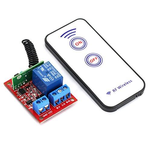 【ノーブランド品】リモコン付き 12V  1 channal RF ワイヤレスリレーモジュール