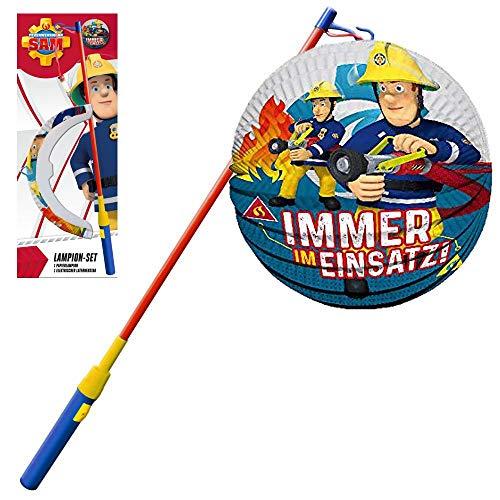 Feuerwehrmann Sam Lampion Set blau | Immer im Einsatz Laternen Stab