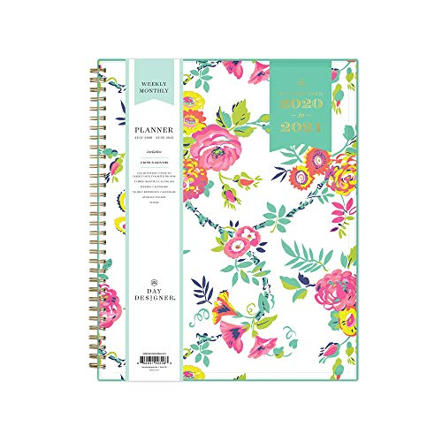 """Day Designer for Blue Sky 2020-2021 Academic Year Weekly & Monthly Planner, Flexible Cover, Twin-Wire Binding, 8.5"""" x 11"""