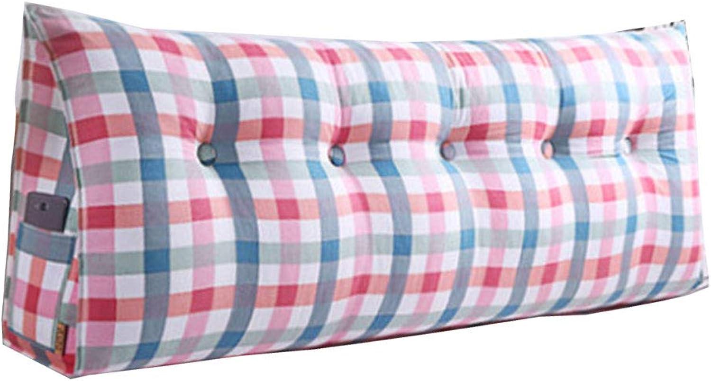 Oreiller de cale-coussin de dossier lombaire de coussin confortable de sac de coussin de chevet de sac de soucravaten confortable, amovible (Couleur   A, taille   L180cmW20cmH50cm)