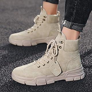 GKXAZ Outdoor Hommes Chaussures de randonnée imperméable et Respirante Tactique de Combat Armée Bottes Haut Haut Désert Fo...