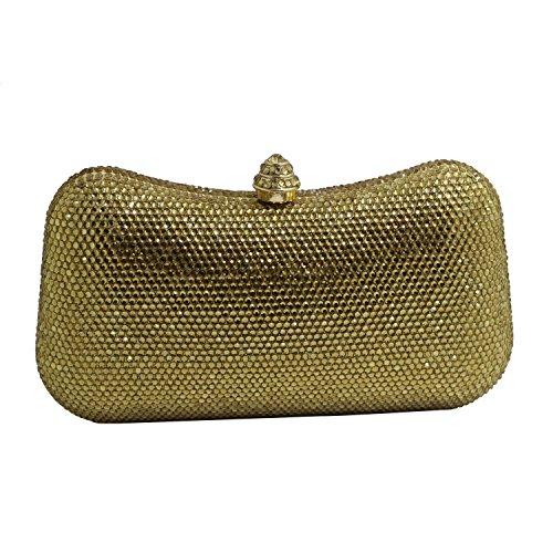 DMIX Crystal Abendtaschen und Clutches, Gold (Gold), Small