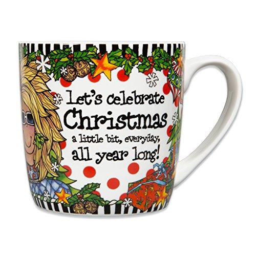 Brownlow Gifts Suzy Toronto Ceramic Mug, Christmas All Year Long