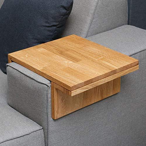 Moebelwerte TABLETT FÜR Sofa/Couch/Lounge ARMLEHNE - BREITE 20-25 cm - EICHENHOLZ VERSTELLBAR