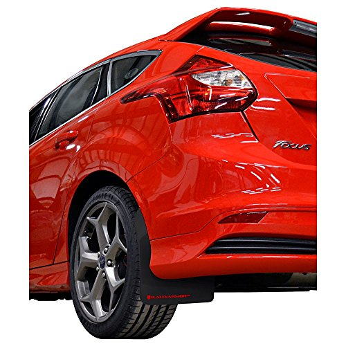 Rally Armor MF27-UR-BLK/RD Black, Red Mud Flap with Logo (13-18 Ford FocusST)