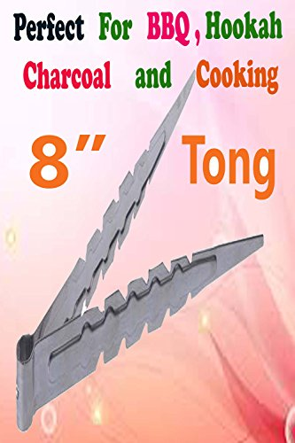 Stainless steel tongs with teeth
