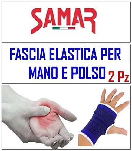 Fascia Elastica Mano Polso - 2 PEZZI - Polsiera - Tutore Tunnel Carpale Supporto per Sport, Palestra, Lavoro