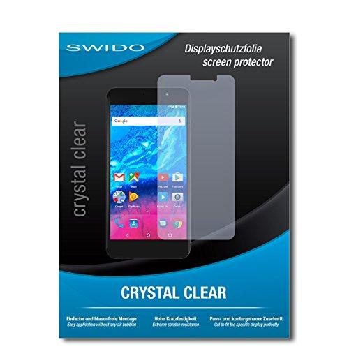 SWIDO Bildschirmschutz für Archos Core 50P [4 Stück] Kristall-Klar, Hoher Festigkeitgrad, Schutz vor Öl, Staub & Kratzer/Schutzfolie, Bildschirmschutzfolie, Panzerglas Folie