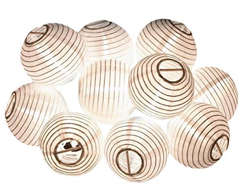 DATO 4M 20LEDs Linterna LED Solar Guirnalda de Globos Cadena de Luces Impermeable para Árboles de Navidad y Decoración Fiesta Exterior