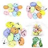 Easter Speckled Eggs 30pcs 🐣 10 Color 3 Size Foam Easter Eggs, Simulation Colorful Artificial Easter Egg Decorating Kits for Home Ornament, Crafts, Easter Party Decoration