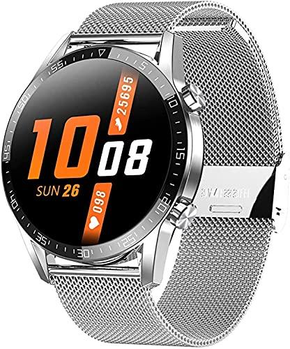 Relógio inteligente homens impermeáveis esporte relógio com pressão arterial / SPO2 / Monitor da frequência cardíaca vis Monitor de temperatura corporal (Color : E)