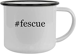 #fescue - 12oz Hashtag Camping Mug Stainless Steel, Black