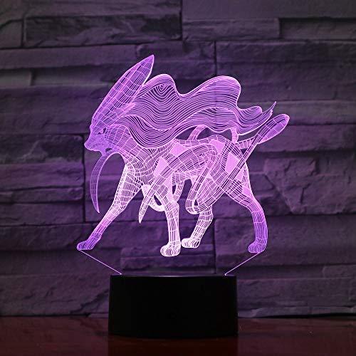 Kindergeschenk Led Nachtlicht Litten Pokemon Go Fire Katze Nachtlicht Kinderzimmer Dekoration Licht Weihnachtsgeschenk Baby Led Nachtlampe 3D