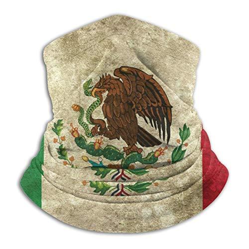 Bufanda de microfibra para el cuello de la bandera mexicana para el clima frío invierno deportes al aire libre bandana pasamontañas unisex